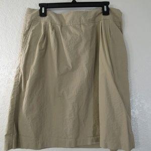 Straight Pencil Skirt Khaki 100% Cotton Sz 12